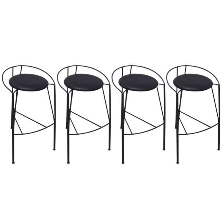 Set Of 4 Modern Barstools By Pascal Morque At 1stdibs