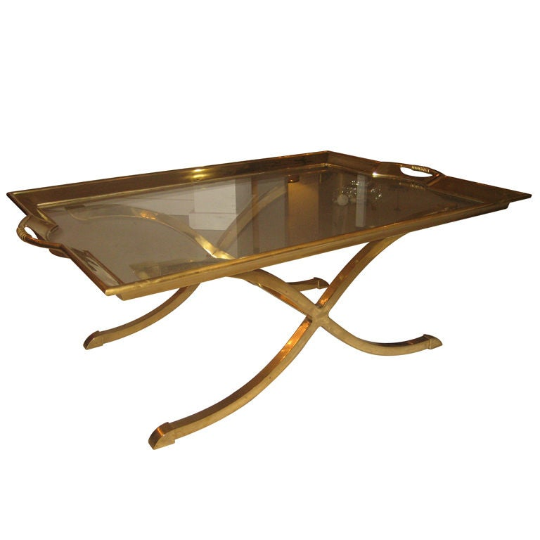 Large Brass Coffee Table At 1stdibs