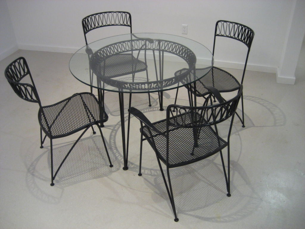 wrought iron patio set by salterini at 1stdibs