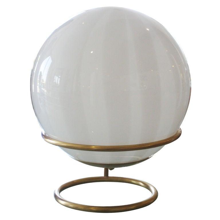 Mid Century Orb Lamp: Mid Century Mod Glass Orb Table Lamp At 1stdibs