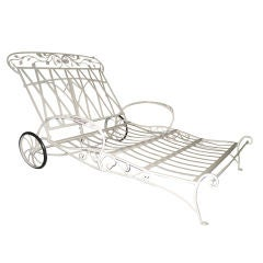 Salterini Rare Wrought Iron Double Lounger