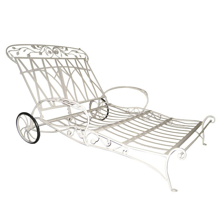 Salterini rare wrought iron double lounger at 1stdibs for Chaise longue dwg