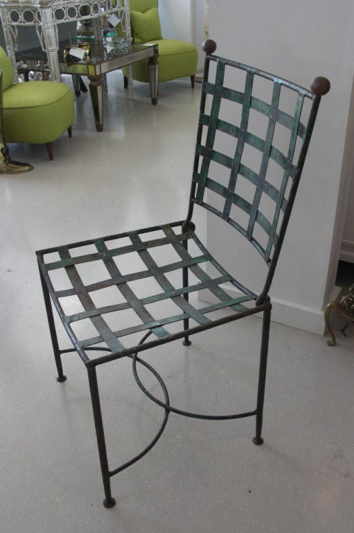 Set of 8 french iron garden chairs at 1stdibs French metal garden furniture