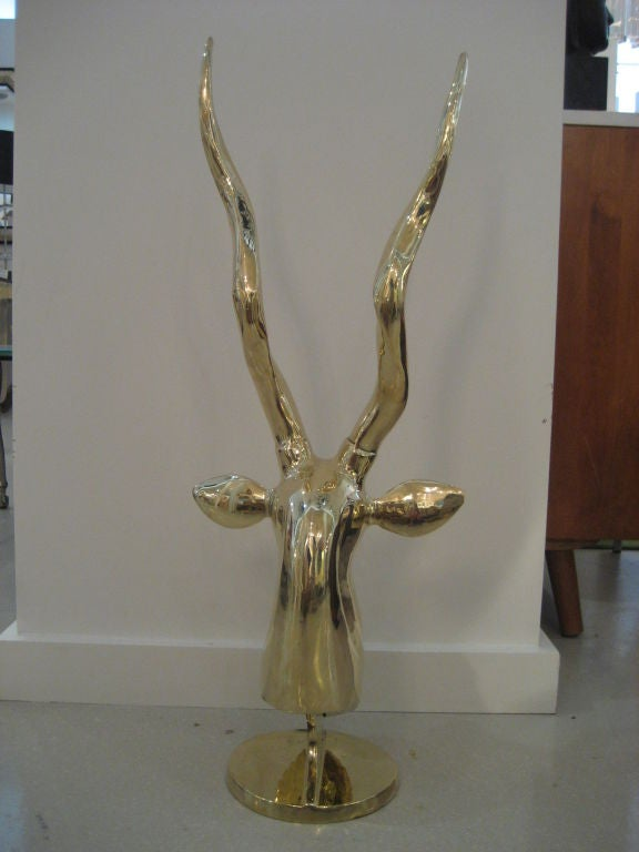 Polished Brass Antelope Sculpture 5