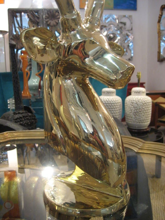 Polished Brass Antelope Sculpture 9