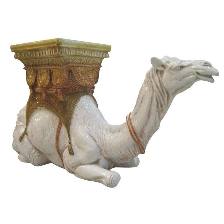Italian Camel Glazed Terracotta Garden Seat At 1stdibs