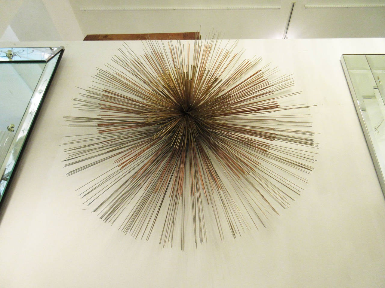Mixed Metal Mid-Century Modern Wall Sculpture By C. Jere