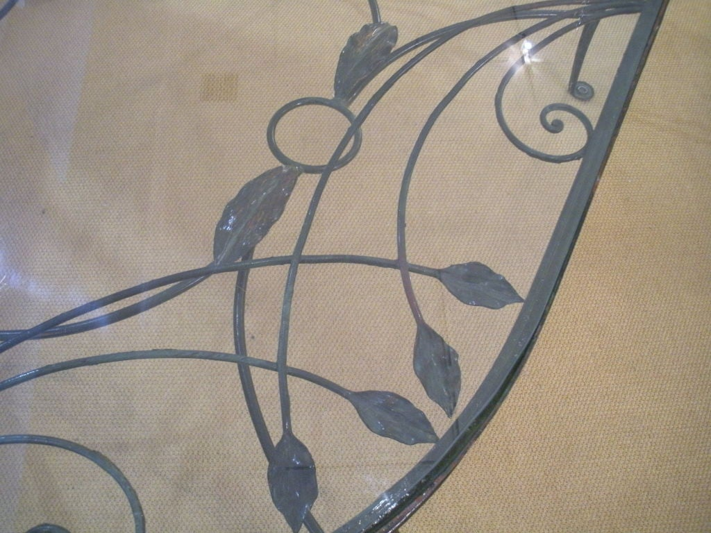 Vintage Salterini Wrought Iron Dining Table and Chairs 7