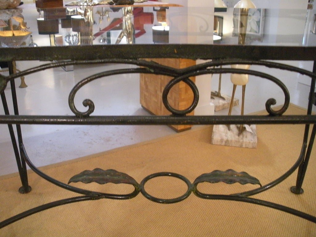 Vintage Salterini Wrought Iron Dining Table and Chairs 8