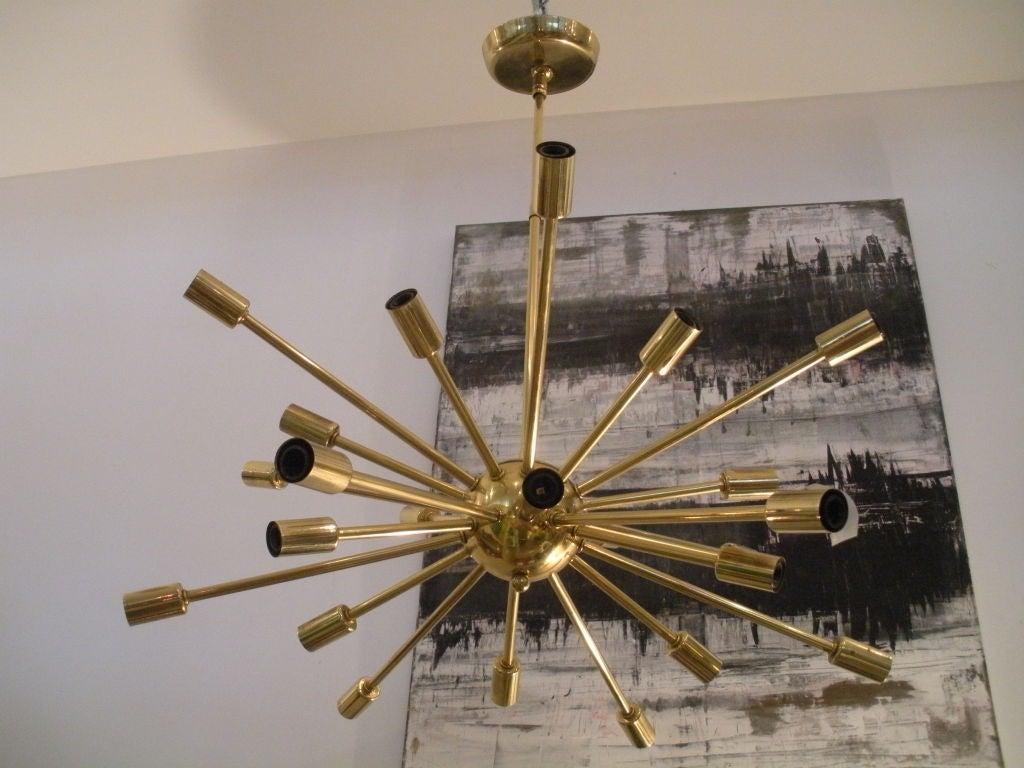 Vintage Brass Sputnik Light Fixture at 1stdibs