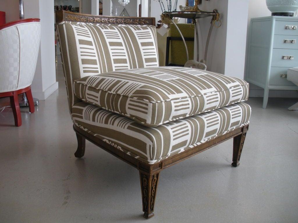 Pair of Vintage Slipper Chairs 2