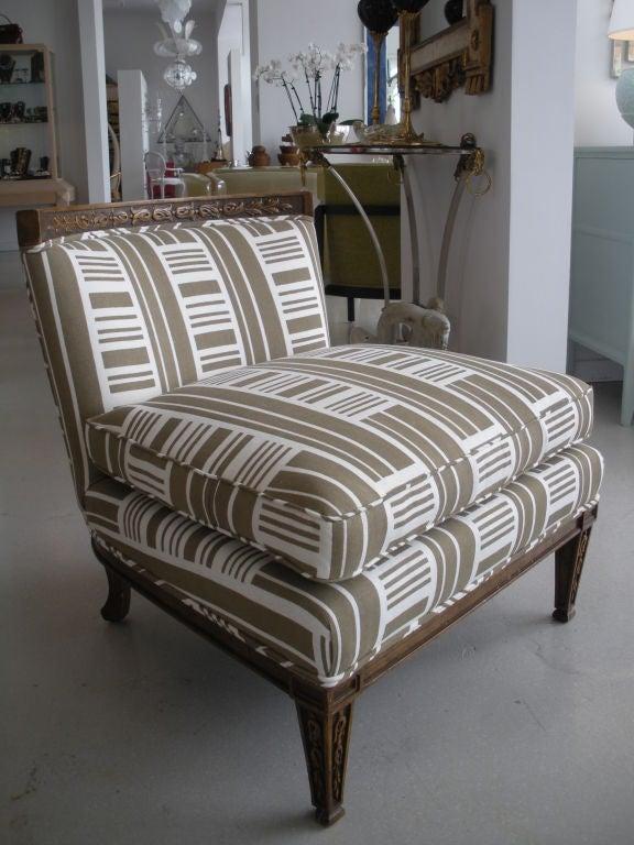 Pair of Vintage Slipper Chairs 3