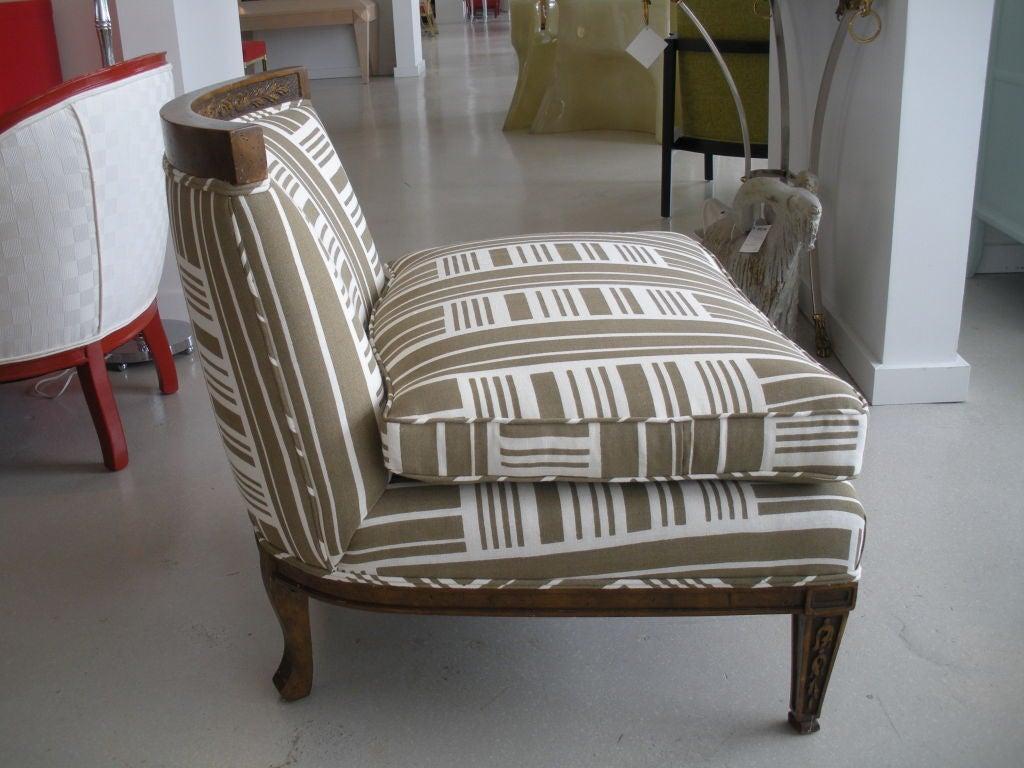Pair of Vintage Slipper Chairs 9