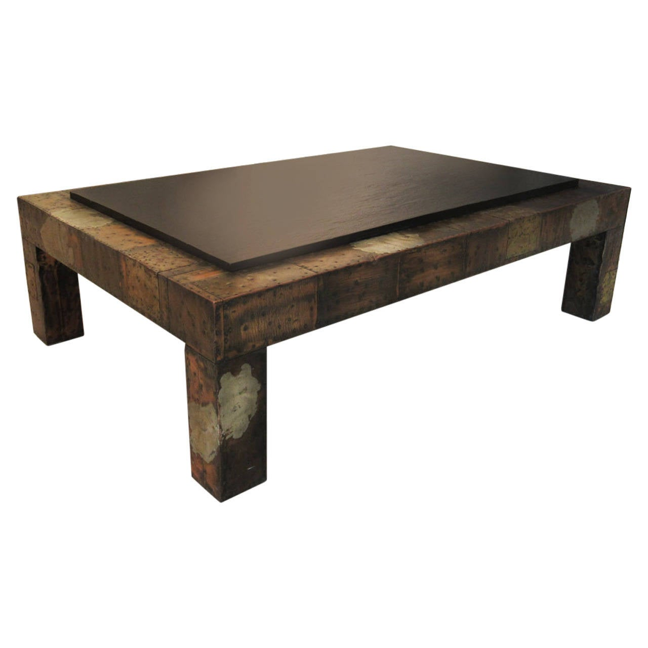 Paul Evans Patchwork And Slate Coffee Table At 1stdibs