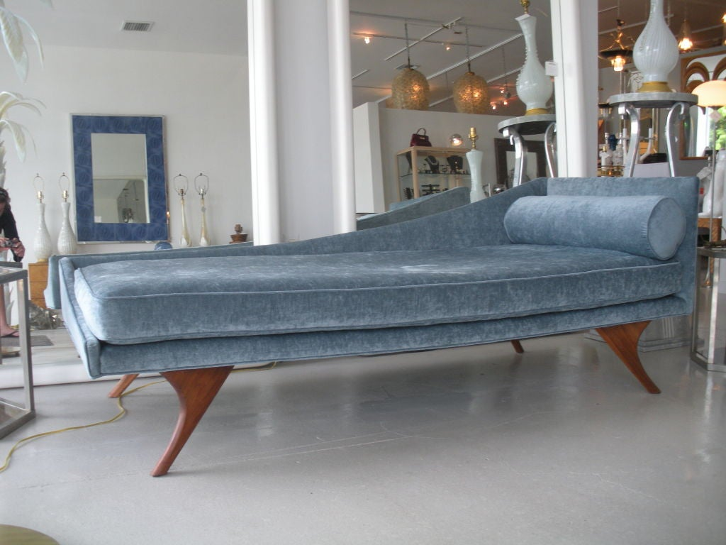 mid century modern chaise lounge at stdibs - mid century modern chaise lounge
