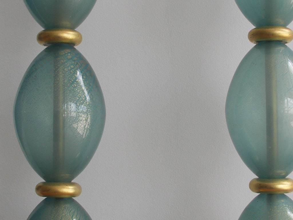 this pair of vintage blue murano glass lamps is no longer available. Black Bedroom Furniture Sets. Home Design Ideas