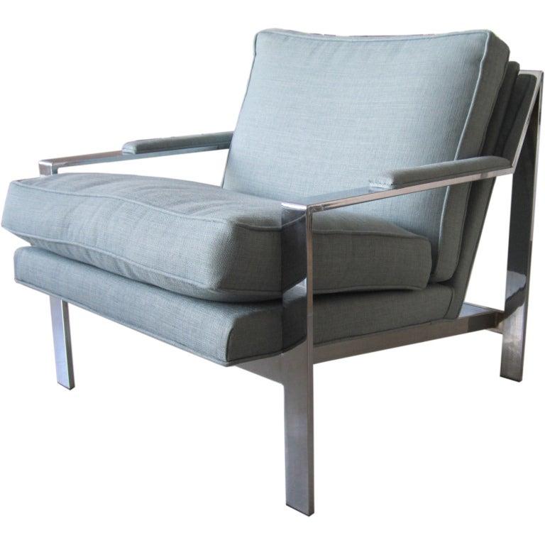 Single milo baughman armchair at 1stdibs for Single armchairs