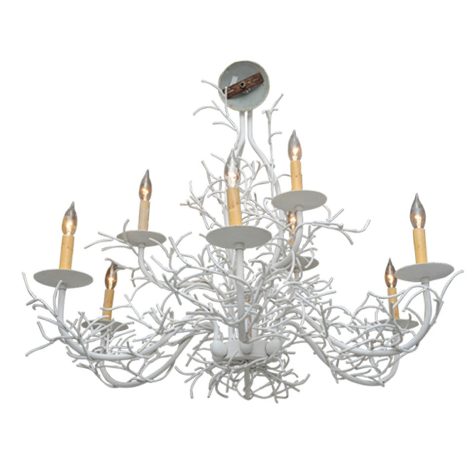 White Faux Coral Chandelier at 1stdibs – Coral Chandelier
