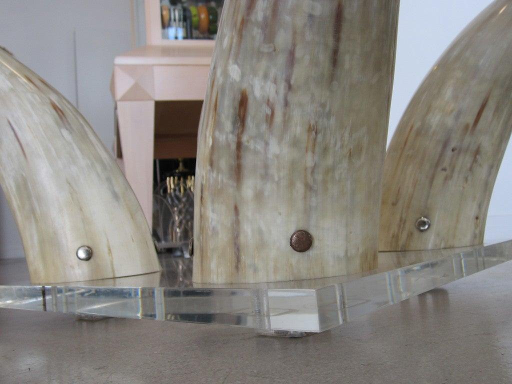 Bull Horn Coffee Table Base At 1stdibs