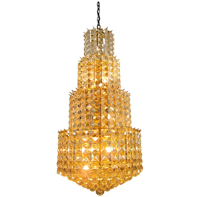 Vintage Lucite Multi Tiered Chandelier at 1stdibs