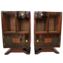 Pair of  Art Deco Bedside Chests- Nightstands