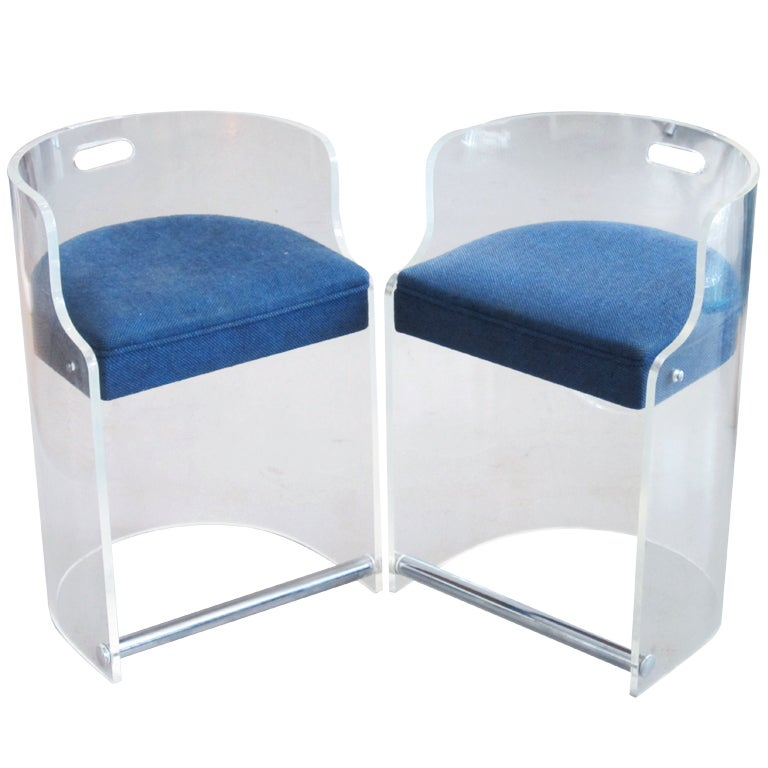 vintage mod lucite chairs at 1stdibs