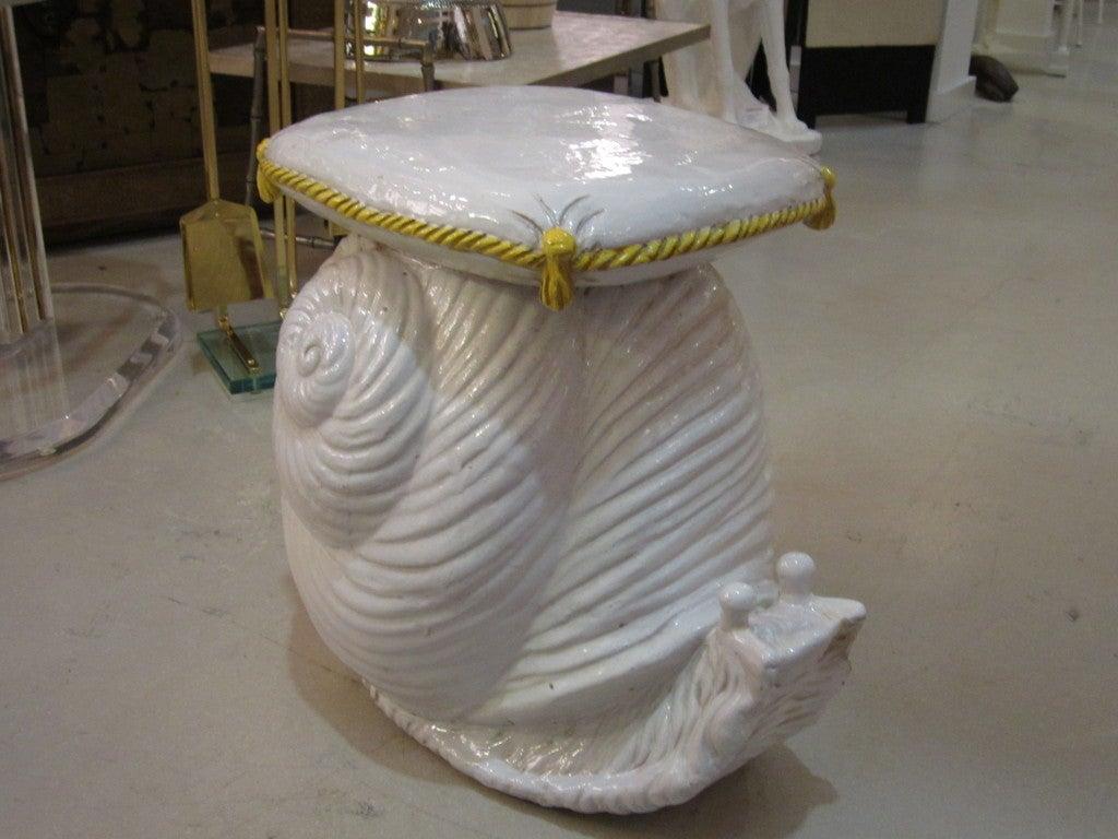 Vintage Terra Cotta Snail Garden Seat At 1stdibs