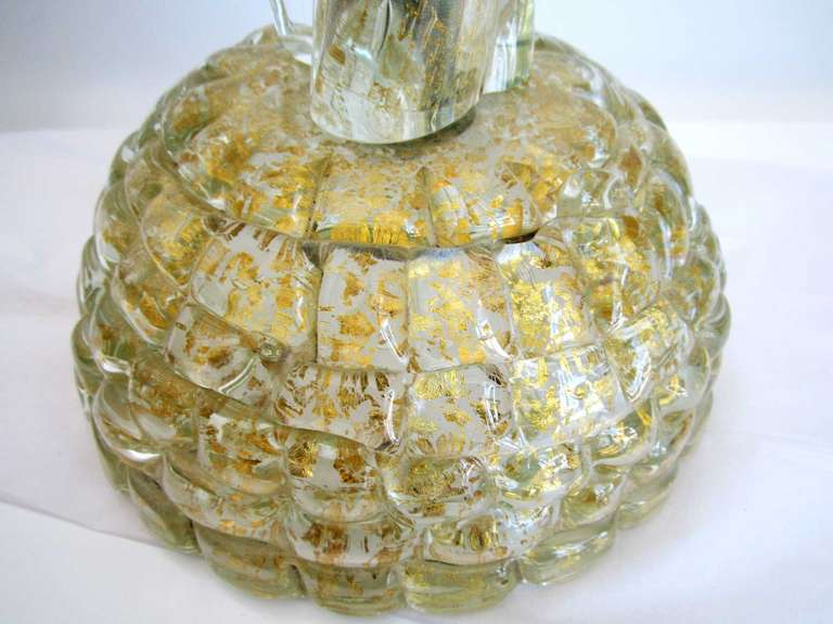 Single  Vintage Murano Glass Lamp by Barovier 6