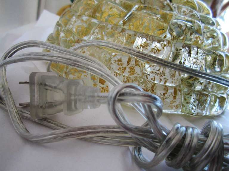Single  Vintage Murano Glass Lamp by Barovier 9