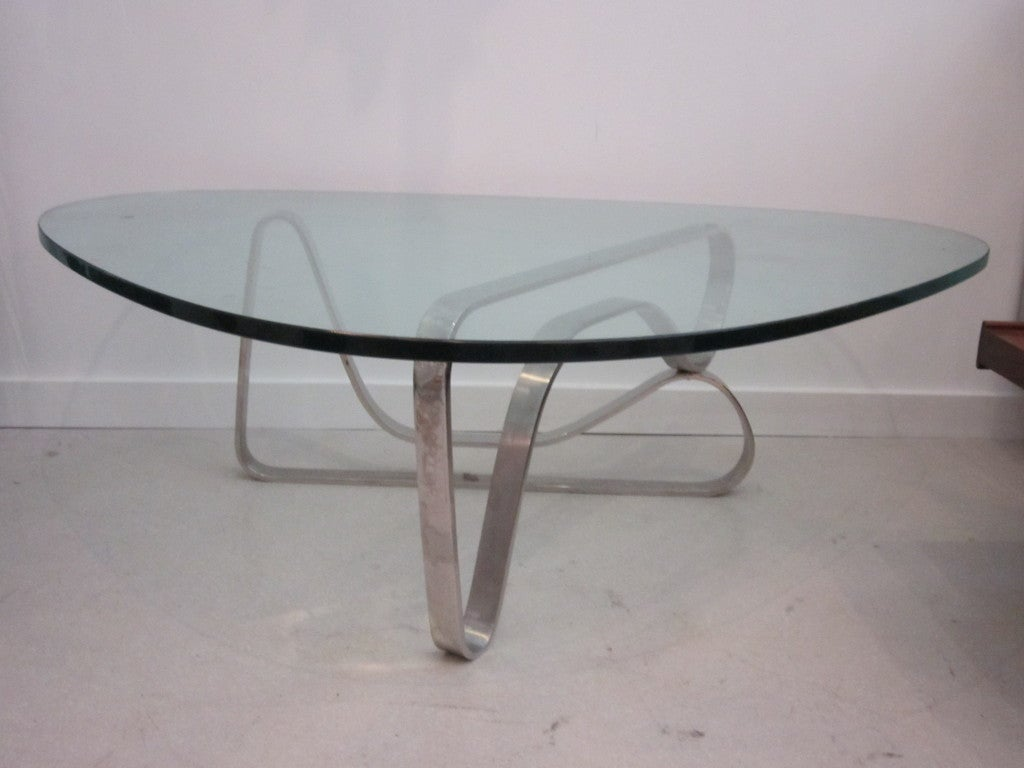 Noguchi Style Steel Coffee Table At 1stdibs
