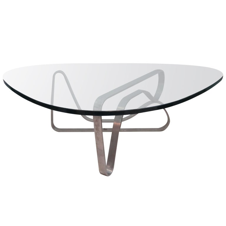 Noguchi style steel coffee table at 1stdibs Vogue coffee table