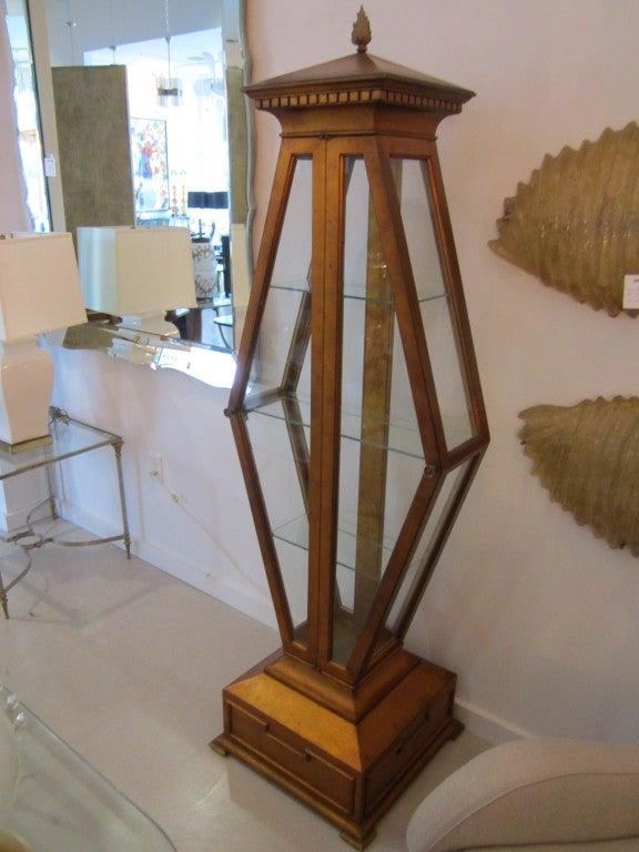 vintage vitrine with glass shelves manner of mont at 1stdibs. Black Bedroom Furniture Sets. Home Design Ideas