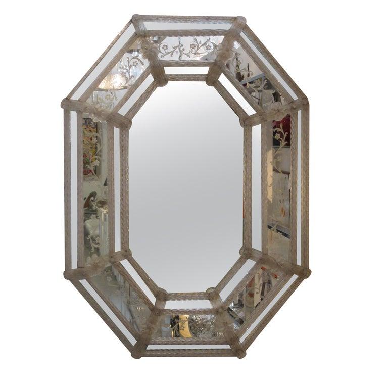 Large Vintage Venetian Mirror at 1stdibs