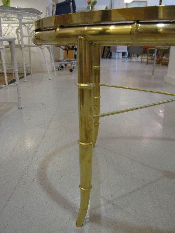 Mastercraft Brass Oval Table For Sale 3