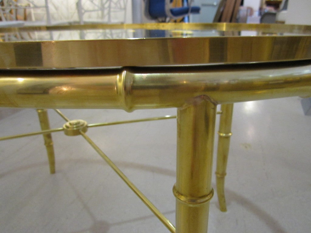 Mastercraft Brass Oval Table For Sale 4
