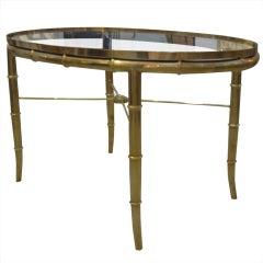 Mastercraft Brass Oval Table