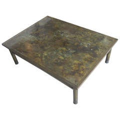 Signed Bronze Laverne Coffee Table