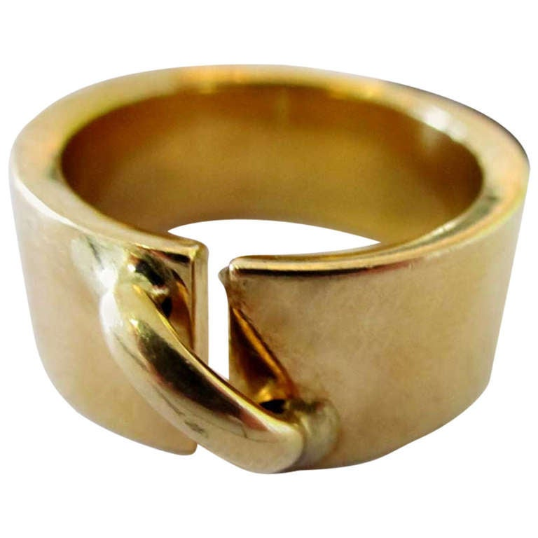 18k Yellow Gold Chaumet Paris Wedding Band 1
