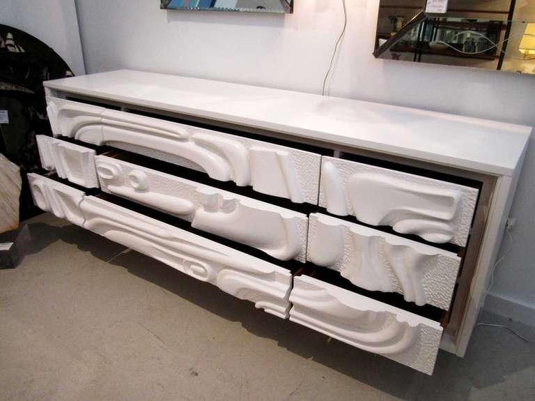 White Lacquered Witco Dresser At 1stdibs