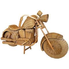 Vintage Wicker Motorcycle