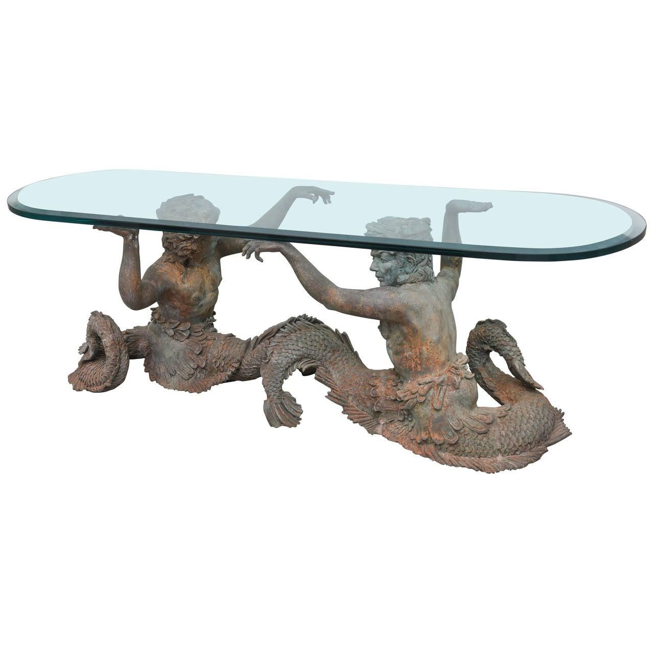 Bronze Coffee Table Australia: Sculptural Bronze Merman Coffee Table At 1stdibs