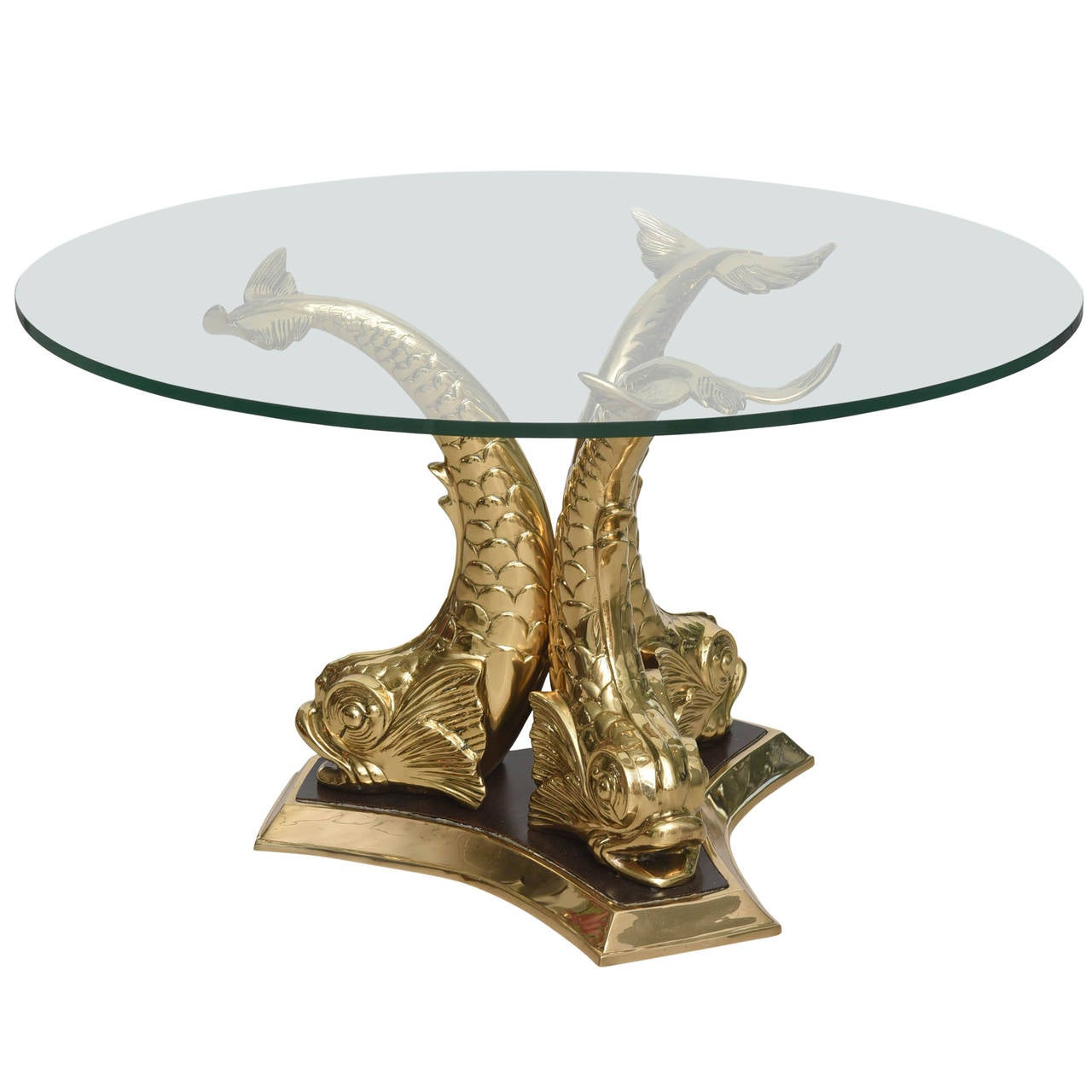 brass koi fish coffee table at 1stdibs