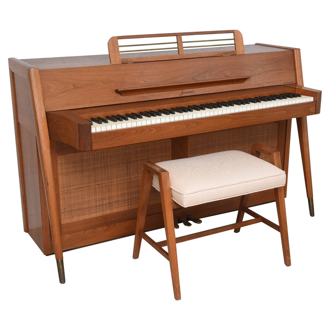 Mid Century Modern Arcosonic Spinet Piano By Baldwin At