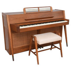 Mid-Century Modern Arcosonic Spinet Piano by Baldwin