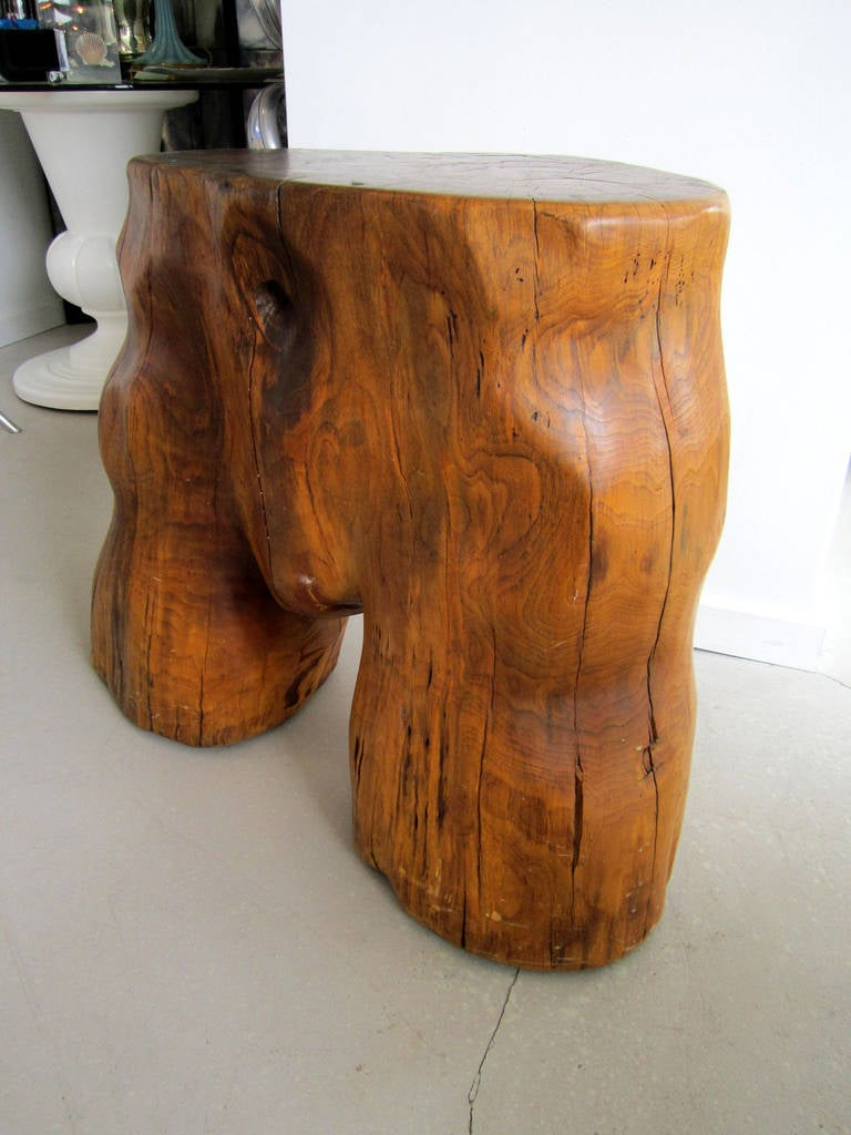 Organic Tree Trunk Table, Sculpture In Excellent Condition For Sale In West Palm Beach, FL