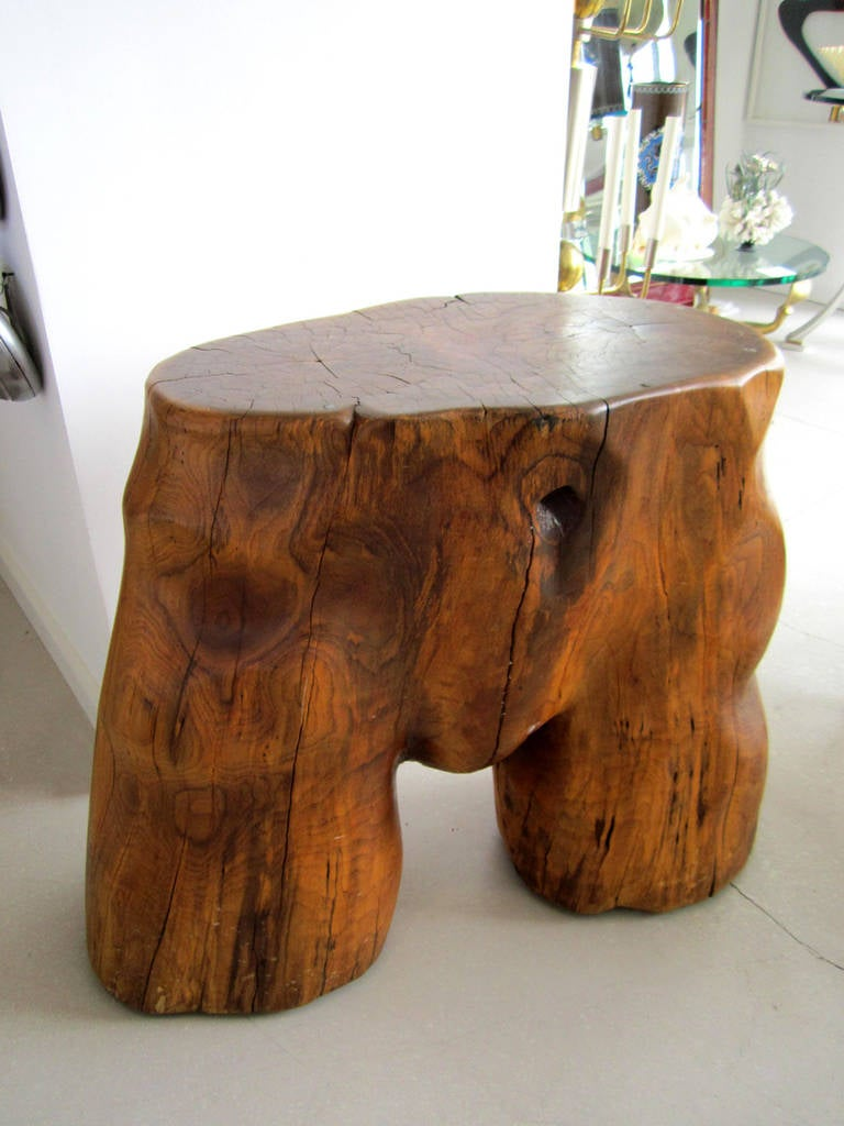 Organic Tree Trunk Table Sculpture For Sale At 1stdibs