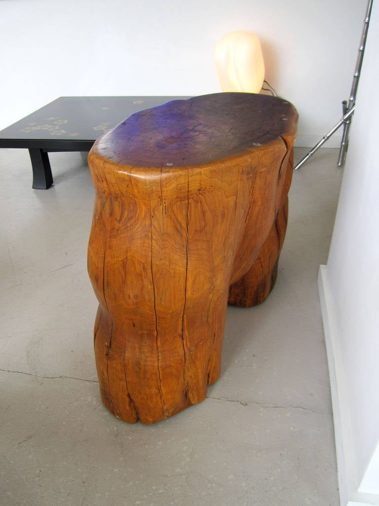20th Century Organic Tree Trunk Table, Sculpture For Sale