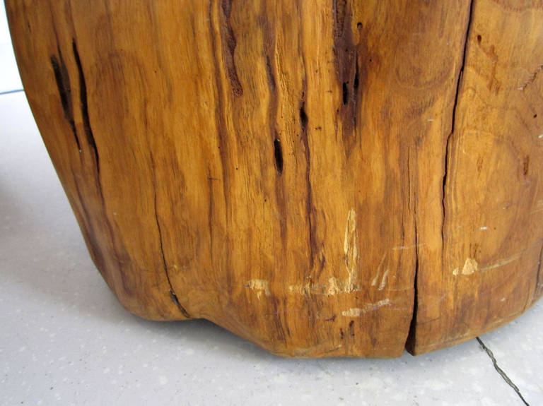 Organic Tree Trunk Table, Sculpture For Sale 4