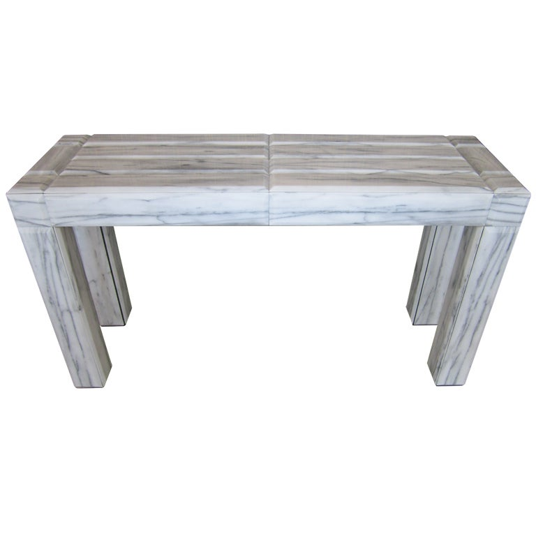 Marble Console Table : Mid Century Modern Marble Console Table at 1stdibs