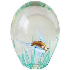 Murano Glass Aquarium Paperweight